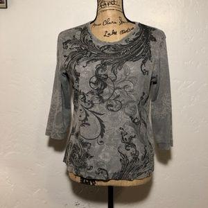 Nicki-Nichole Miller sequin blouse size medium